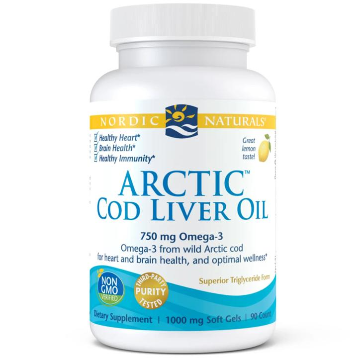 Arctic Cod Liver Oil - Lemon 750 mg - 90 soft gels