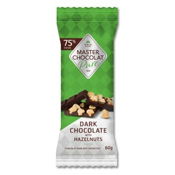 [11012470] Chocolate Bar - Dark Chocolate with Hazelnuts - 60 g